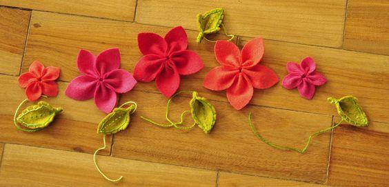flores de feltro como fazer passo a passo - Pesquisa Google