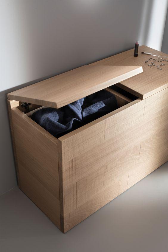 sanijura panier linge lignum home ideas pinterest. Black Bedroom Furniture Sets. Home Design Ideas
