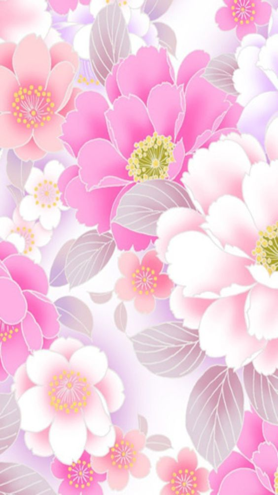 Pink floral iphone wallpaper background iphone - Flower wallpaper for phone ...