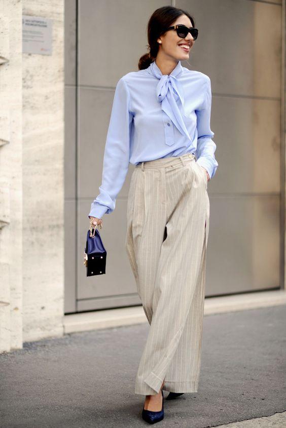 Retro large pants + blouse