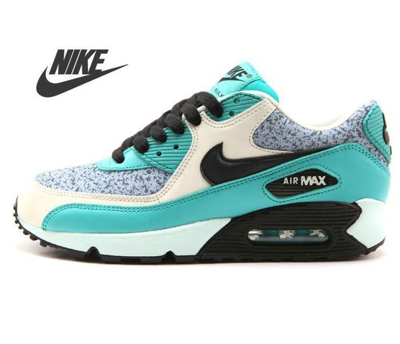 Goedkope Sale 2013 Nike Classic Air Max 90 Green Black Women\u0026#39;s Running Shoes [Air Max-2007]
