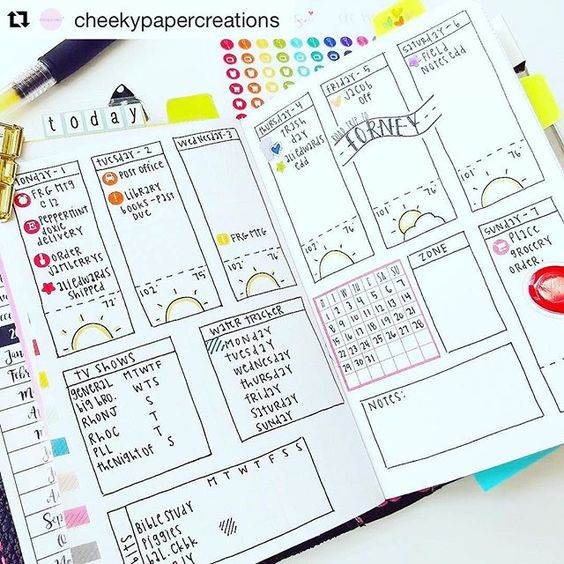 A fun #weeklyspread to inspire you from @cheekypapercreations. Check out her…