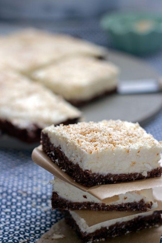 Schokoladen-Kokosnuss-Schnitte