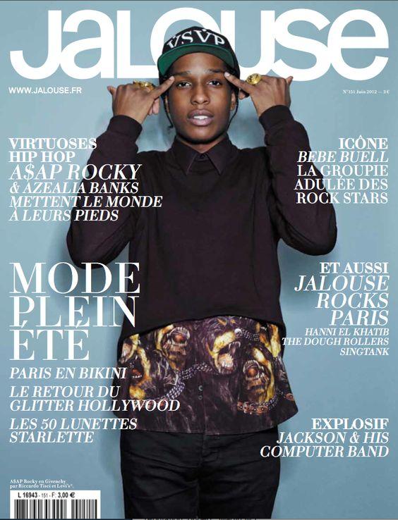 A$AP Rocky aka Pretty Flacko on Jalouse cover