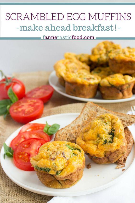 Scrambled egg muffins, Egg muffins and Scrambled eggs on Pinterest