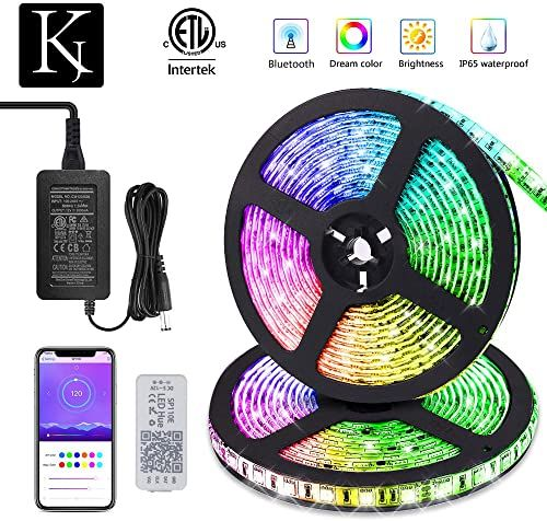 Buy Korjo Dream Color Led Strip Lights 32 8ft 10m Bluetooth Led Chasing Light App Waterproof 12v 300 Leds 5050 Rgb Color Changing Rope Light Kit Flexible Le In 2020 Led Strip Lighting
