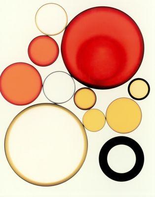 Red Circles Untitled #Photogram 26 by Brian Buckley via Lynn Dunham Fine Art #art