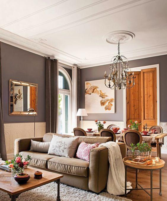 amenajari, interioare, decoratiuni, decor, design interior, apartament, clasic, gri cenusiu, living,