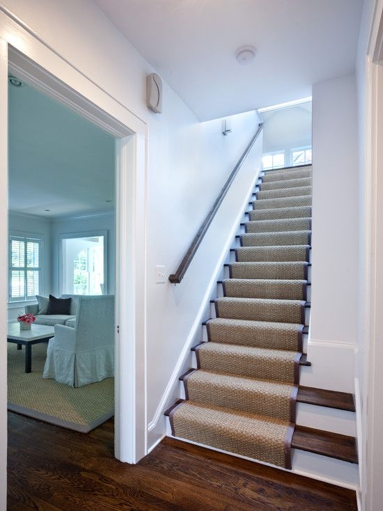After seeing this beautiful use of a stair runner I ...
