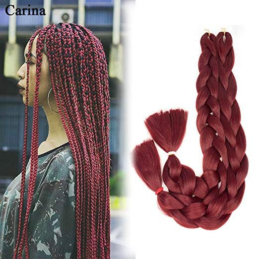 Carina Synthetic Kanekalon Braiding Hair High Temperature Fiber Crochet Twist Braids 4 Kanekalon Braiding Hair Braids With Extensions Braid In Hair Extensions