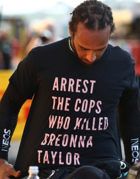 Black Lives Matter Lewis Hamilton Wears Breonna Taylor T Shirt As He Calls For Justice At Formula One Race Photos Black Lives Matter Black Lives Lives Matter