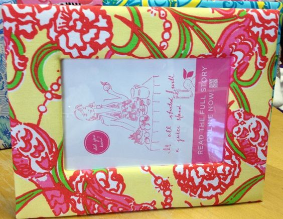 chi omega lilly pulitzer frame