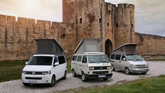 Drei Generationen des VW-California