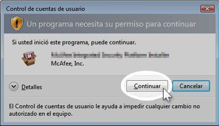 Descargar el software de McAfee