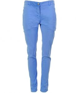 Plus Fine Slim Fit Hose Tight Pant TINOS ocean blue