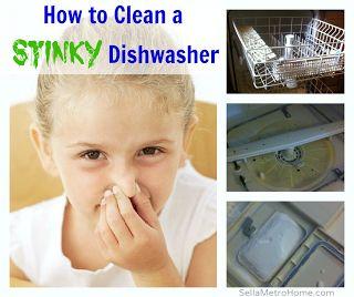 how to fix a stinky dishwasher