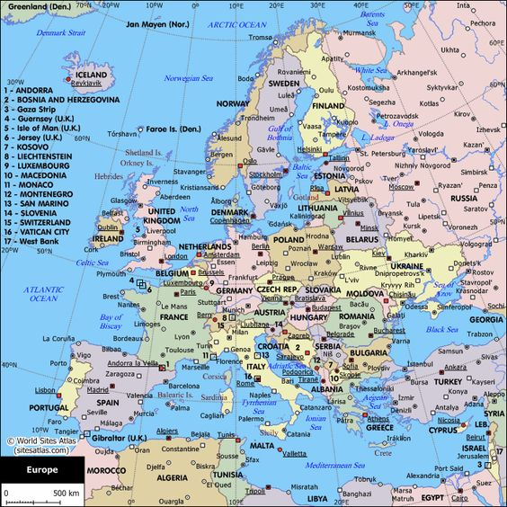 political map of europe Google Search maps Pinterest World Google an