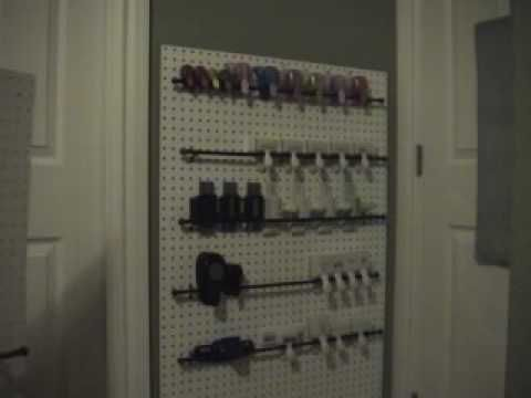 Punch Storage without putting a bunch of holes in your walls.  BY: Scrappin with my bug