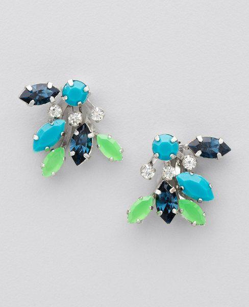 Stone Button Earrings