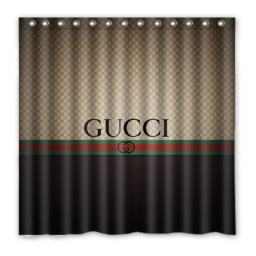 Hot Sale Gucci Brown Luxury Shower Curtain Free Shipping Shower