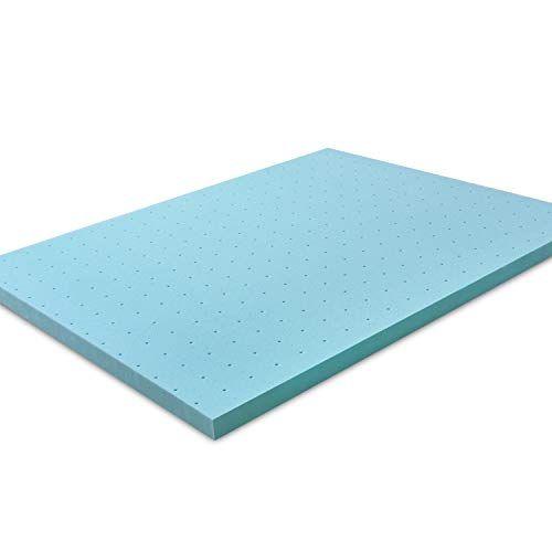 Gel Foam Mattress Memory Twin Size Topper Pad 5 Zone Firm Back Support 2 Loft Memory Foam Topper Mattress Pad Twin Mattress