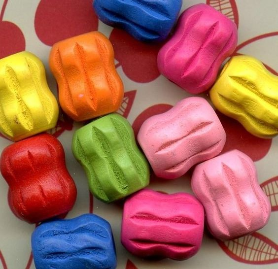 Chunky 18x16mm Colorful Wooden Bead Mix by sunshinecraftworks, $2.10