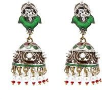 The Indus Connection Antique Victoriana Style Alloy Jhumki Earring