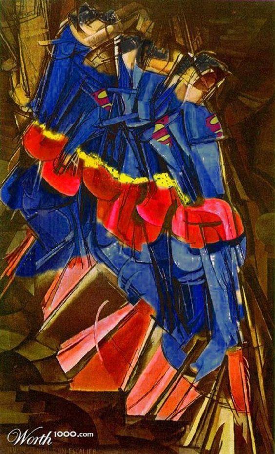 Super Heros dans des classiques de la peinture  2Tout2Rien