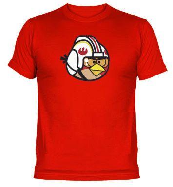 Camiseta Angry Birds Luke Skywalker Star Wars versión #twitmaster