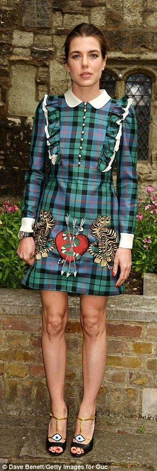 Ready to rock: The second child of Caroline, Princess of Hanover, Princess of Monaco, wore...