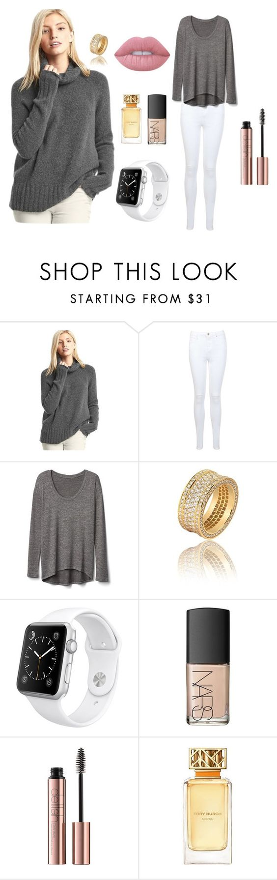 """""""Dunno what to call it"""" by cutiepug ❤ liked on Polyvore featuring Gap, Miss Selfridge, Apple, NARS Cosmetics, Tory Burch and Lime Crime"""