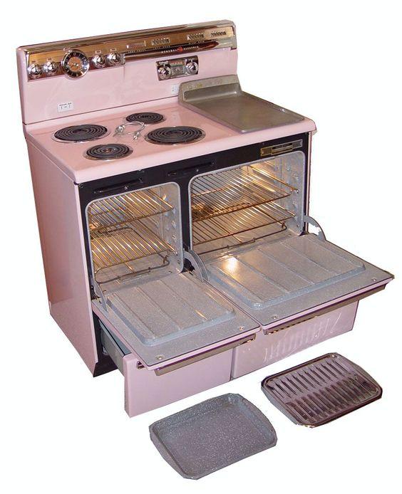 Mid Century Modern Oven ~ Vintage general electric stove range metro reto