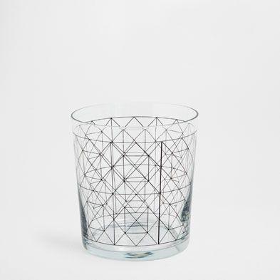 geometric glass tumbler Glassware - Tableware | Zara Home United States