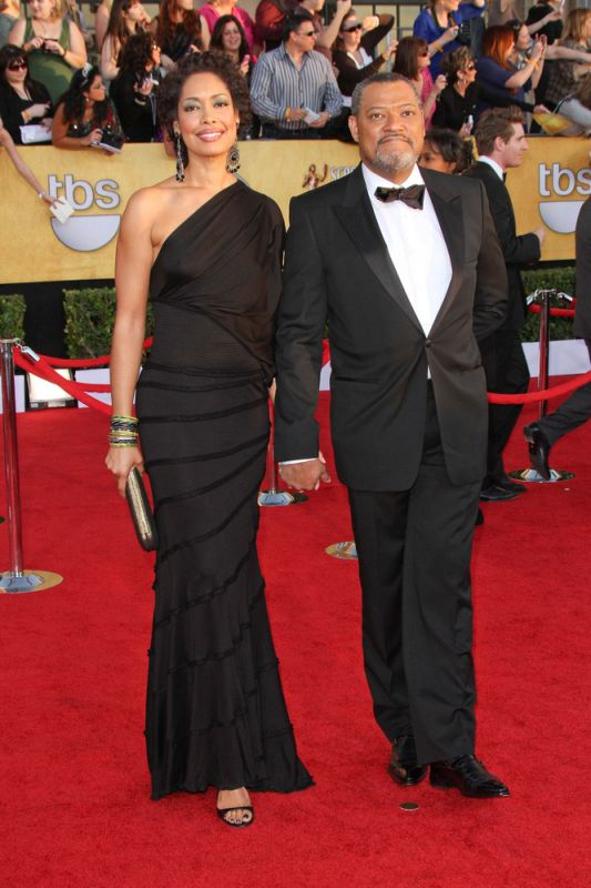 Laurence Fishburne met his wife Gina Torres on the set of ...