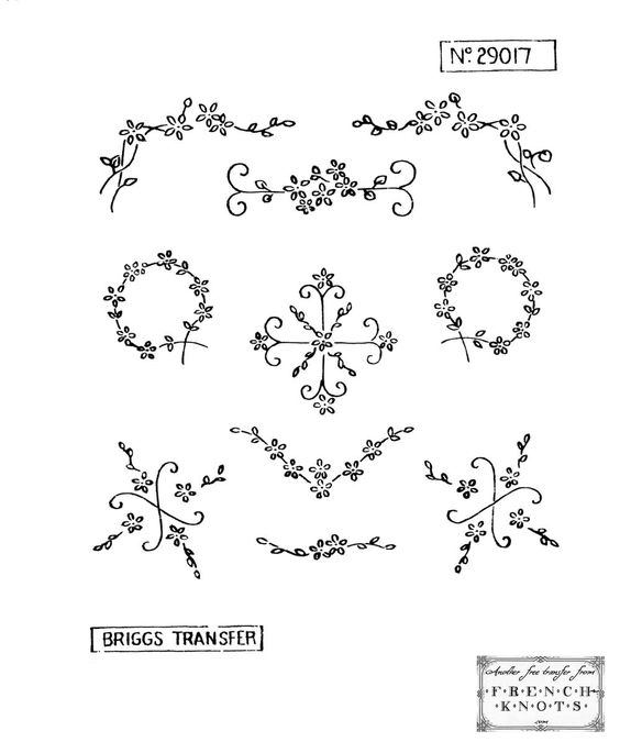 Easy embroidery border patterns