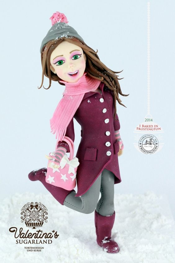 Christmas Girl - Fondant Figurine