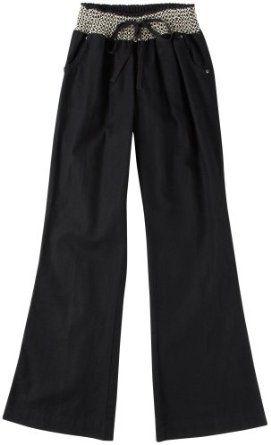 Tyte Solid Smocked Waist Linen Pants BLACK Md Tyte. $14.99