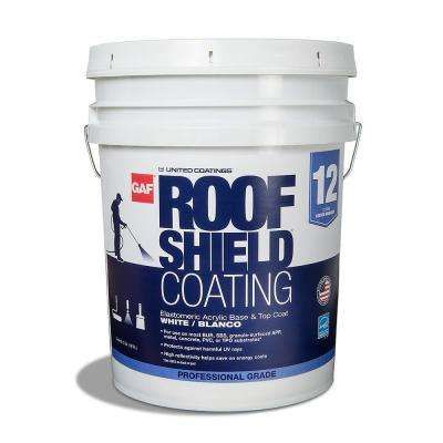 5 Gal White Roofshield Reflective Roof Coating Roof Coating Roof Elastomeric Roof Coating