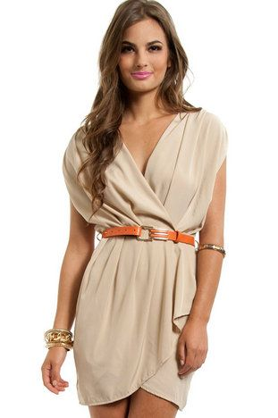 New Colors on the Block Belted Dress $48 at www.tobi.com