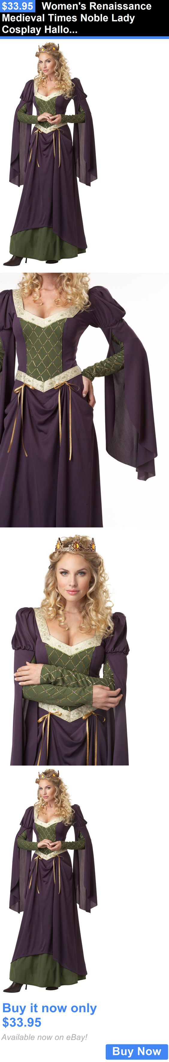 Halloween Costumes Women: Womens Renaissance Medieval Times Noble Lady Cosplay Halloween Costume BUY IT NOW ONLY: $33.95