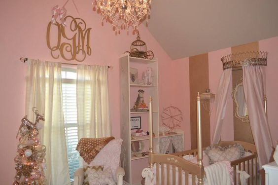 My baby girl's gold and pink nursery