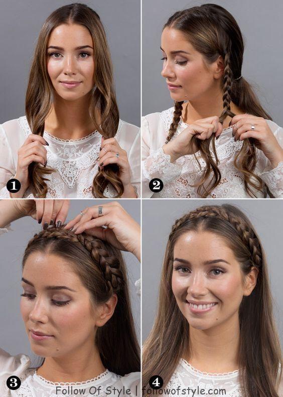62 Einfache Frisuren Schritt Fur Schritt Diy In 2020 Hair Styles Medium Hair Styles Easy Hairstyles