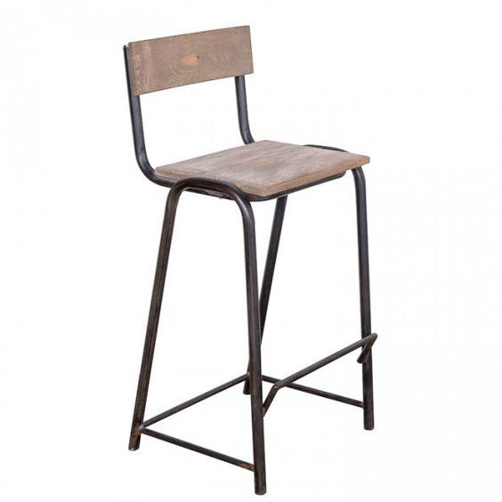 Барный стул HARLEM - Индустриальный стиль - Мебель по стилям Loft Art