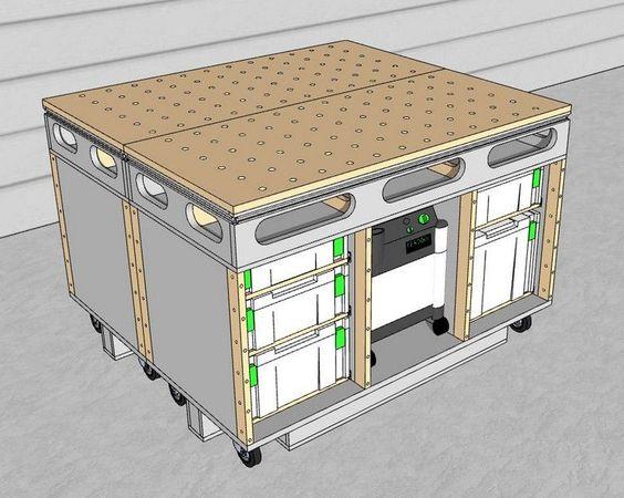 Table d 39 assemblage porte systainer diy termin shop for Porte split 60