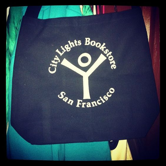 City Lights Bookstore tote. Photo courtesy of Carrie Howland.  ‏@Carrie Howland
