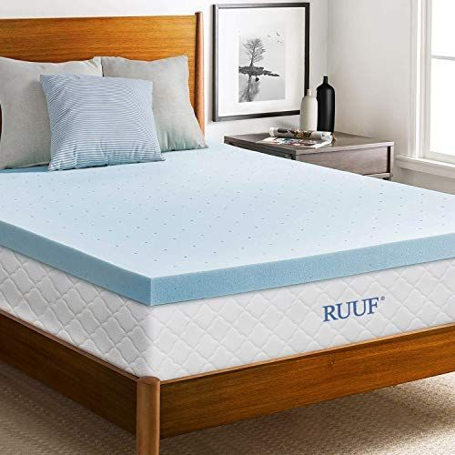 Ruuf Mattress Topper Gel Infused Memory Foam Mattress Topper With