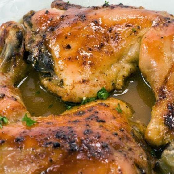 Pollo Horneado Al Limón Recipe Baked Chicken Legs Baked Lemon Chicken Baked Chicken Leg Quarter Recipe