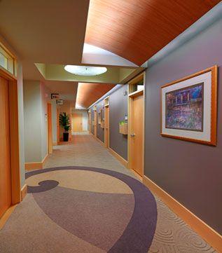 warm dental office design and hallways on pinterest. Black Bedroom Furniture Sets. Home Design Ideas
