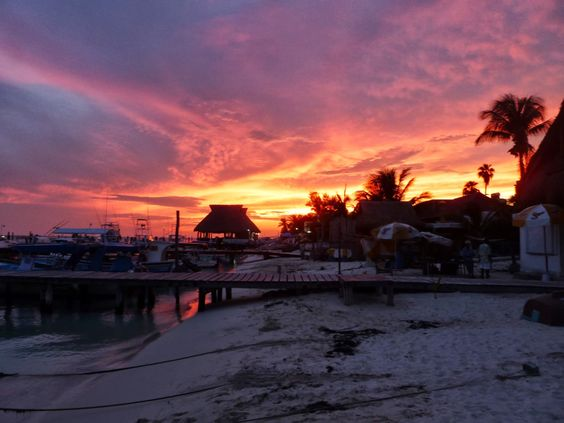 An Isla Mujeres, Mexico sunset? World class.