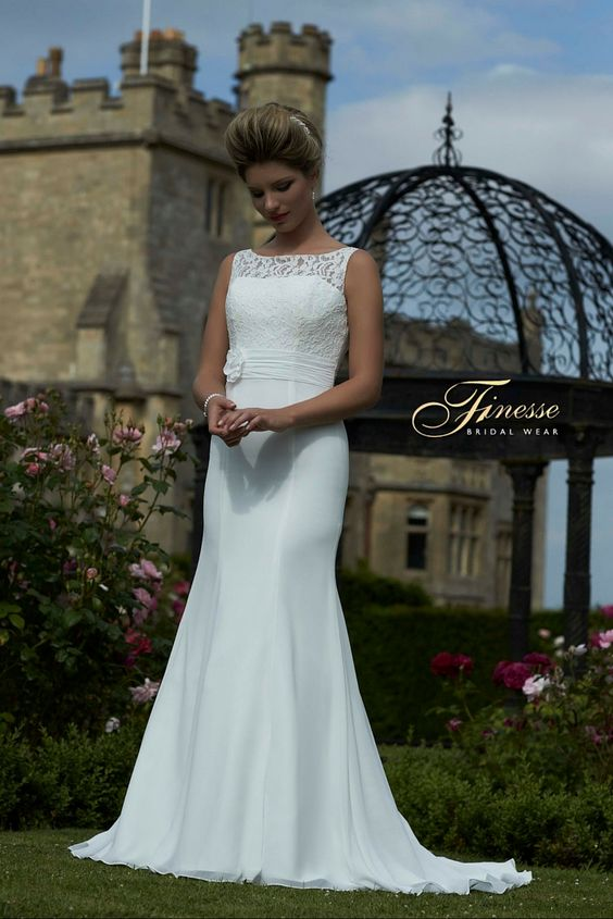 Classic Fit and Flare Wedding Dress from Finesse Bridal Wear in Ireland #FitandFlare #Elegant